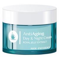 Aloe Excellence - Anti Aging Cream Royal Jelly Extract Antifaltencreme 50ml Dose hergestellt auf Gran Canaria - LAGERWARE