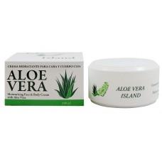 Aloe Vera Island - Crema Hidratante Cara y Cuerpo Eco Bio Aloe Vera Feuchtigkeitscreme 100ml Dose hergestellt auf Fuerteventura -LAGERWARE