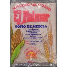 El Palmar - Gofio de Mezcla Trigo y Millo Weizen- & Mais-Mehl geröstet 1kg hergestellt auf Teneriffa - LAGERWARE