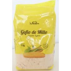 Gofio Miraflor - Gofio de Millo Tueste ligero Maismehl geröstet 1kg hergestellt auf Gran Canaria - LAGERWARE