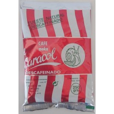 Caracol - Café Moka el Caracol Grano Tueste Natural molido Descafeinado Kaffee gemahlen 250g Tüte hergestellt auf Teneriffa - LAGERWARE