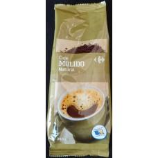 Carrefour - Cafe Molido Natural Röstkaffee gemahlen 250g Tüte hergestellt auf Gran Canaria - LAGERWARE