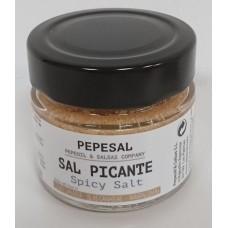 Pepeoil - Pepesal Sal Picante scharf gewürzte Salzmischung 100g Glas hergestellt auf Gran Canaria - LAGERWARE