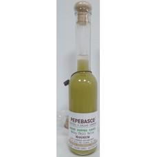 Pepeoil - Pepebasco Green Ghost Pepper Sauce extrem scharfes Tabasco-Würzöl 10.000 SHU 200ml Magnum hergestellt auf Gran Canaria - LAGERWARE