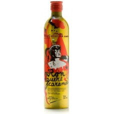 Aguere - Licor de Ron Caramelo Rum-Karamelllikör Alu-Flasche 22% Vol. 700ml hergestellt auf Teneriffa - LAGERWARE