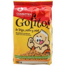 Comeztier - Gofitos de Trigo y Millo y Miel Weizen-Mais-Honig-Cereals Gofio Tüte 290g hergestellt auf Teneriffa - LAGERWARE
