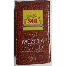 Café Sol - 70% Natural / 30% Torrefacto mezcla molido Espresso-Kaffee gemahlen 250g hergestellt auf Gran Canaria - LAGERWARE